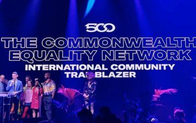 TCEN WINS GAY TIMES HONOUR FOR INTERNATIONAL COMMUNITY TRAILBLAZER